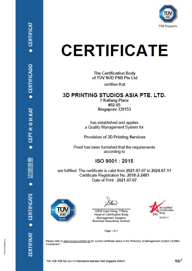ISO 9001: 2015 (2021 to 2024)