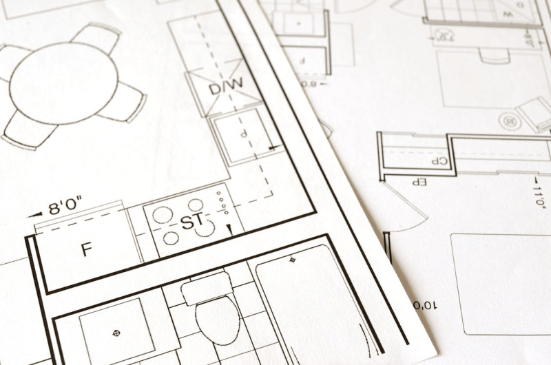 construction drawing for a building