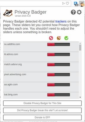 Resultado de imagen de privacy badger