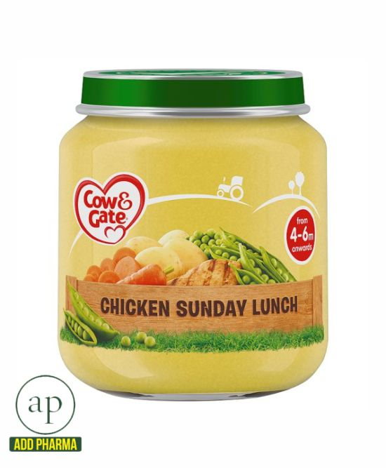 Cow & Gate Chicken Sunday Lunch 4 Month+ - 125G Jar