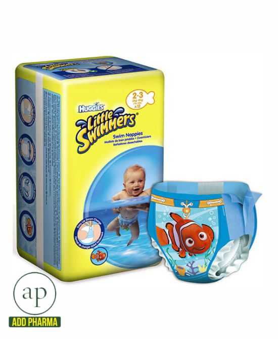 Huggies Little Swimmers Swim Diapers - Size 2-3 (3-8 kg)