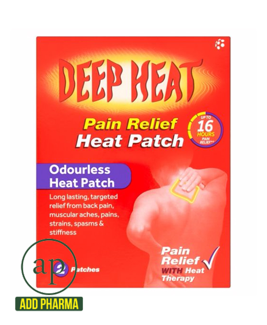 Deep Heat Pain Relief Back Patch (Extra Large) - Pack of 2