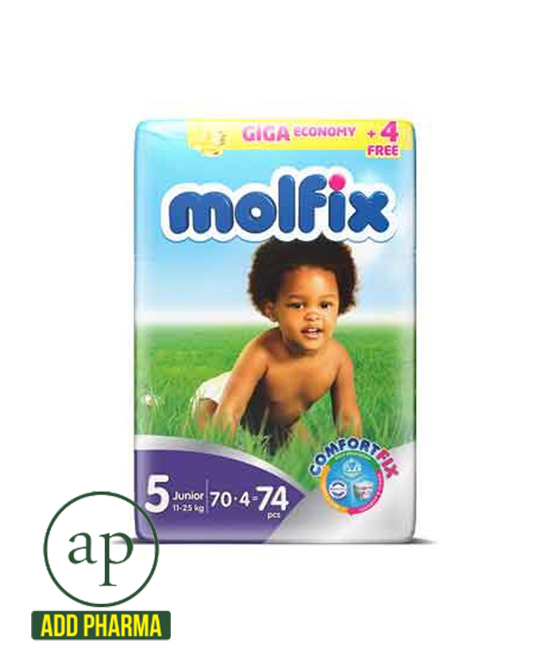 Molfix Diapers 11kg - 25kg - 74 diapers