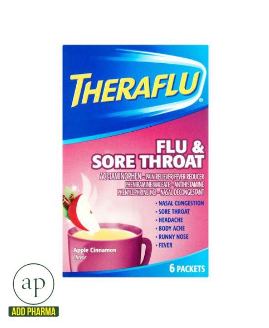 Theraflu® Flu & Sore Throat - 6 Packets