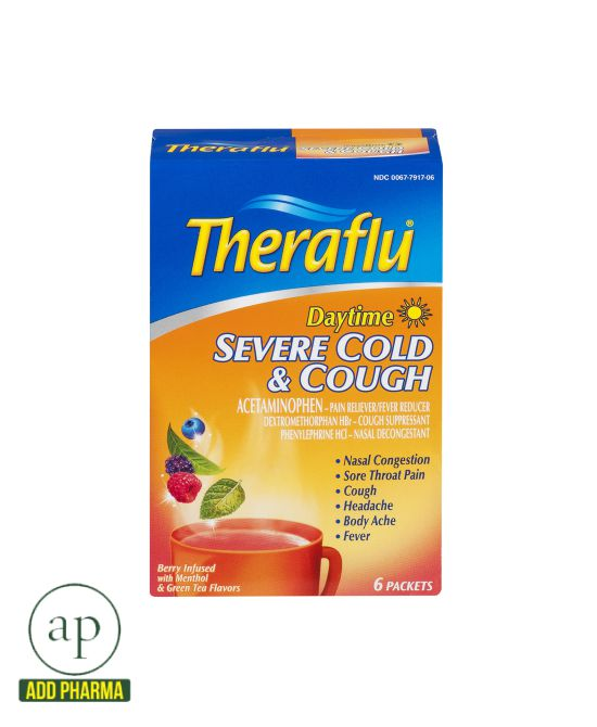Theraflu® Daytime Severe Cold & Cough - 6 Packets