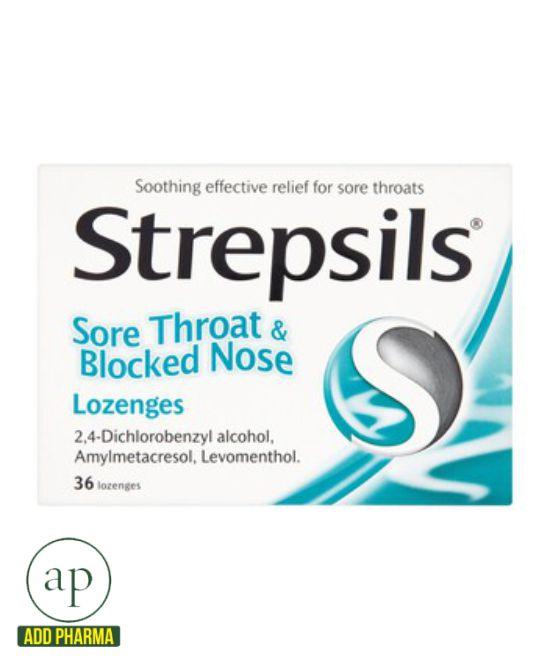 Strepsils Sore Throat & Blocked Nose - 36 Lozenges
