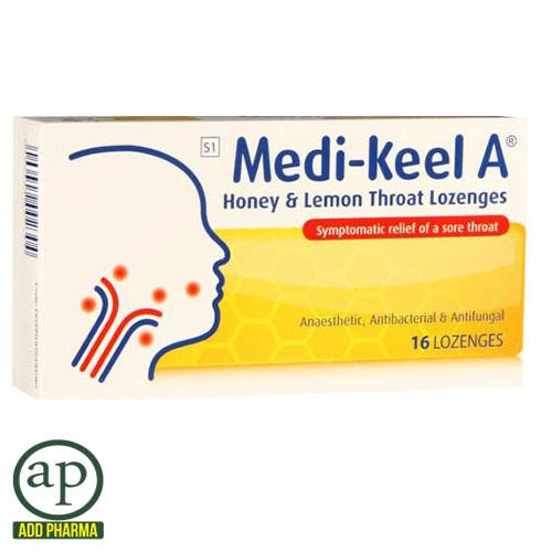 Medi-Keel A Honey & Lemon - 16 Lozenges