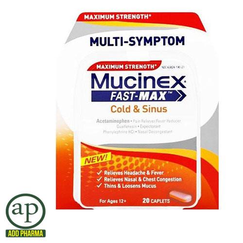 Mucinex Fast Max Cold and Sinus - 20 Caplets