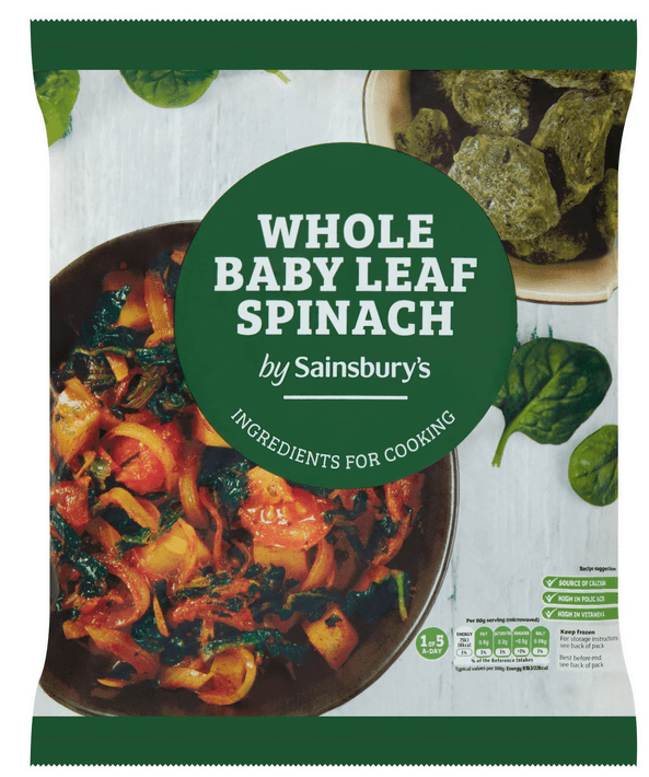Sainsbury's Whole Baby Leaf Spinach