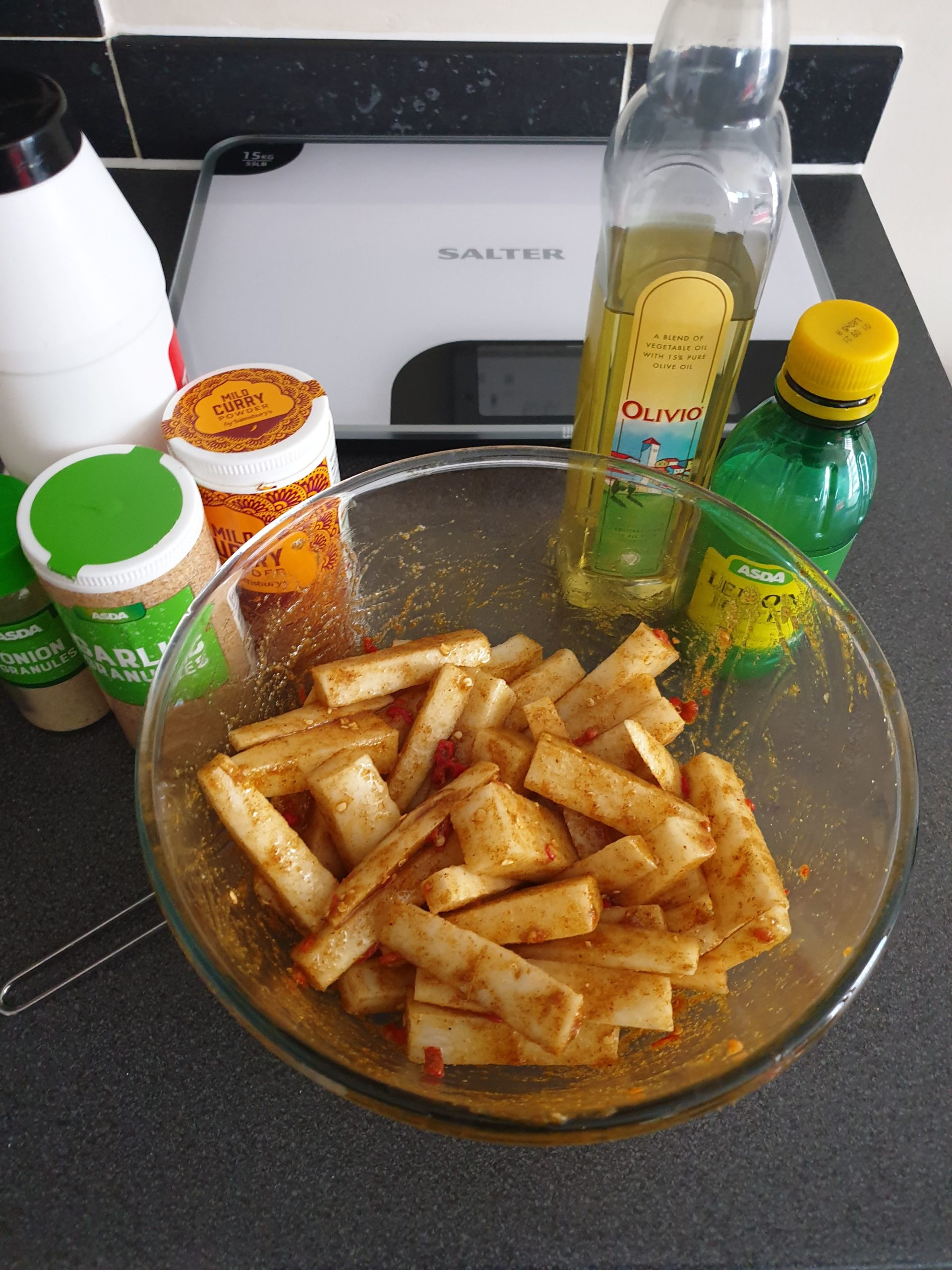 mooli fries marinade