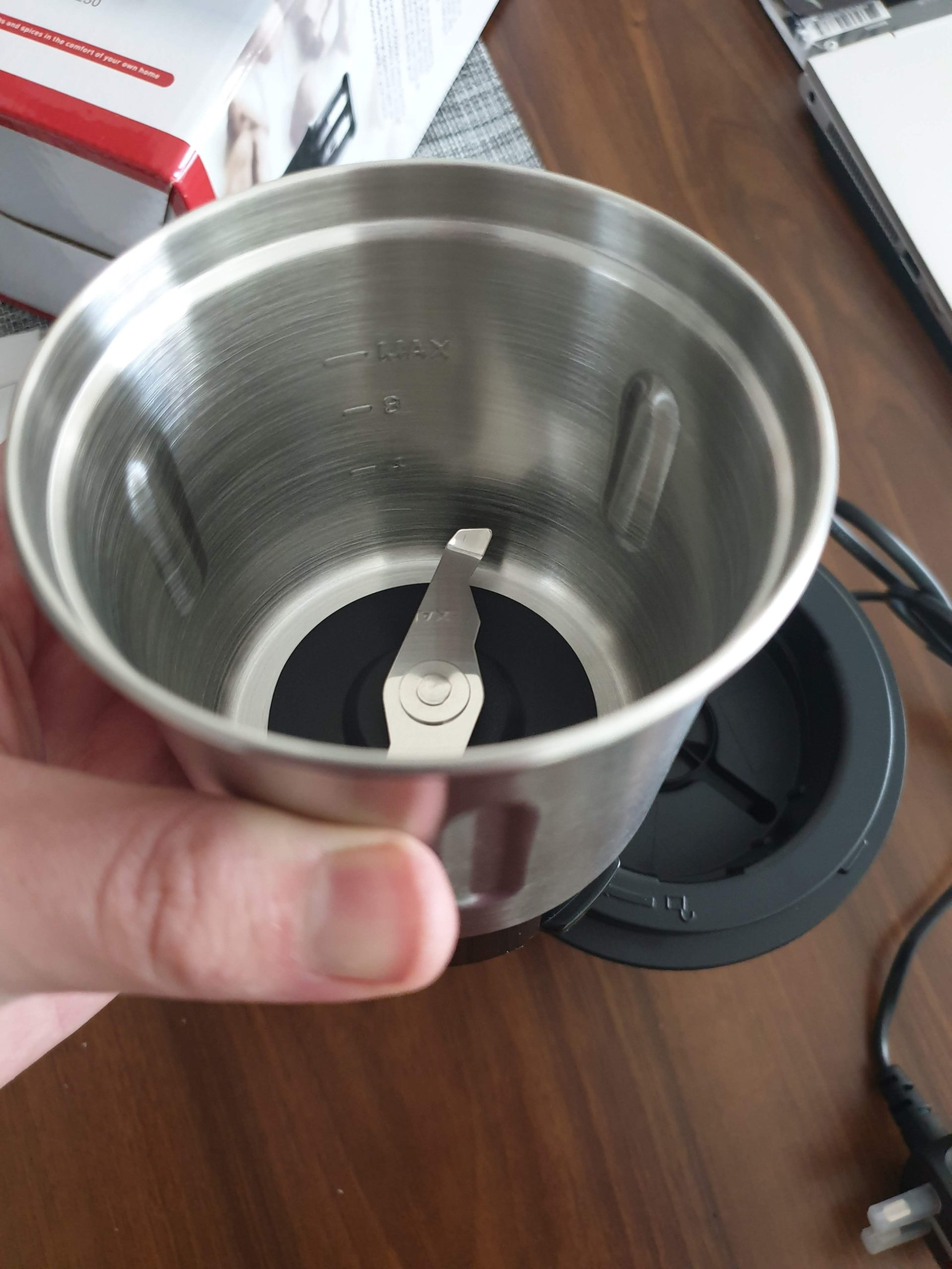 duronic coffee grinder bowl