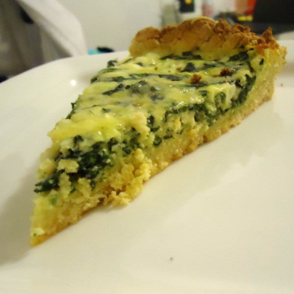 Coconut crusted quiche
