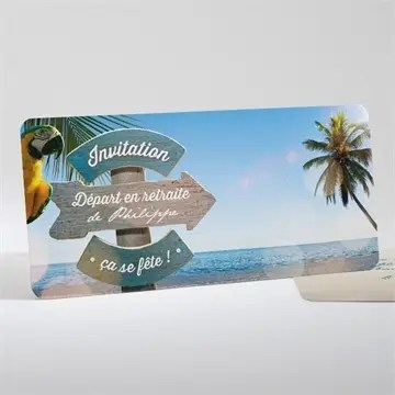 carte invitation depart a la retraite vacances meritees