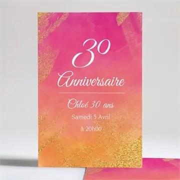 invitation anniversaire en l honneur de mes 30 ans