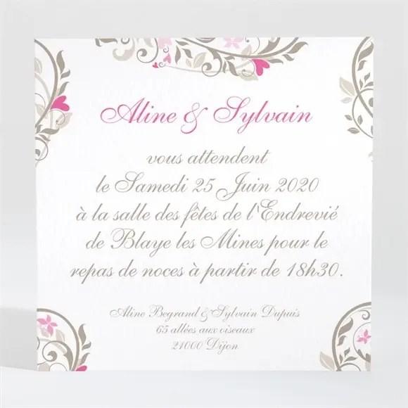 carton d invitation mariage coeur arabesque