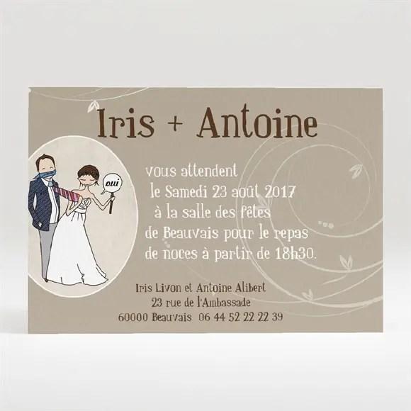 carton d invitation mariage illustrations humour original