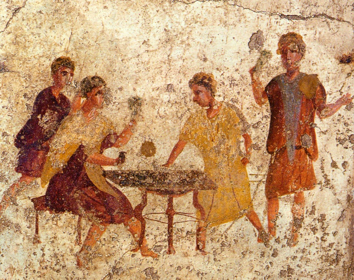 Roman Dice Players