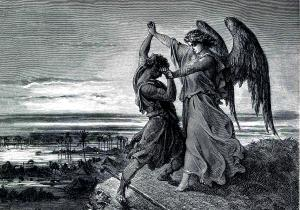 Jacob & the Angel (Gustave Doré: 1855)