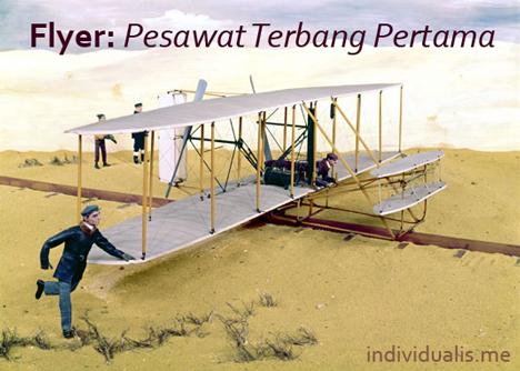 Ilustrasi sejarah penerbangan pertama hanya 12 menit