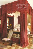 Bilhuber's baroque inspired bedroom in Long Island