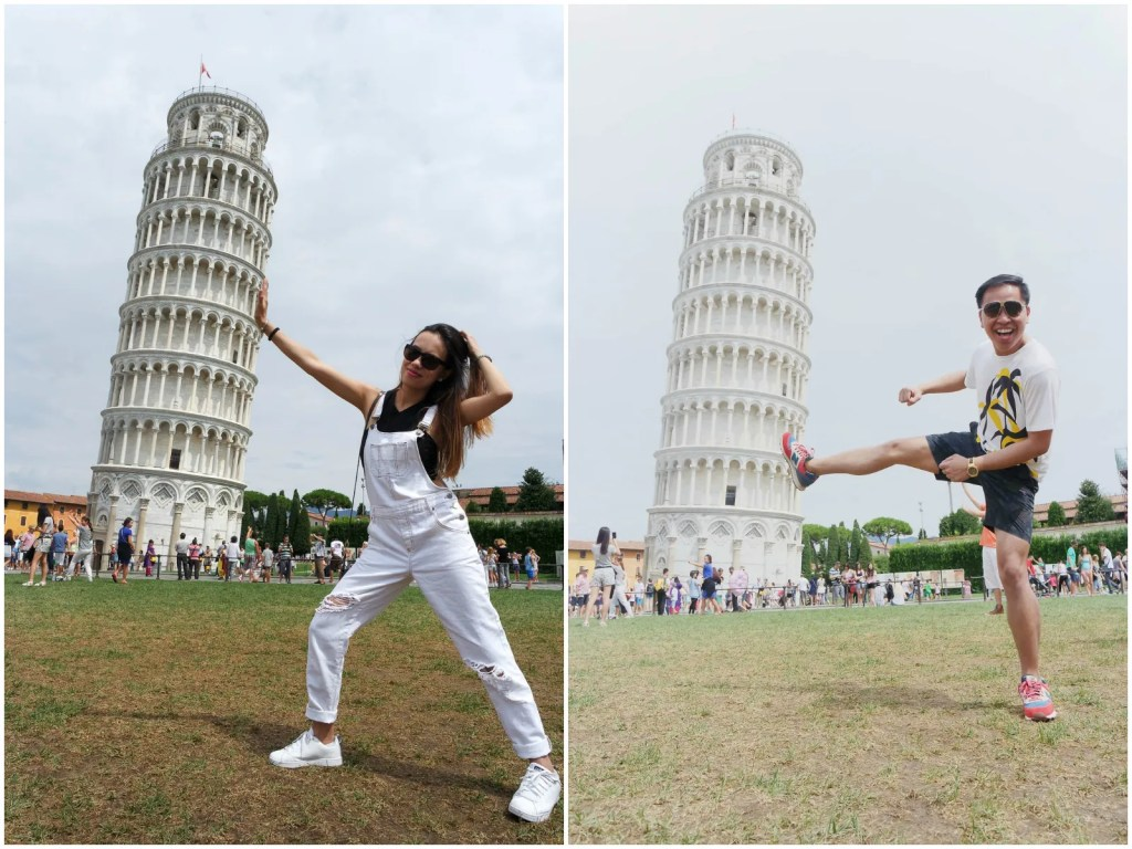 Leaning Tower of Pisa poses 2