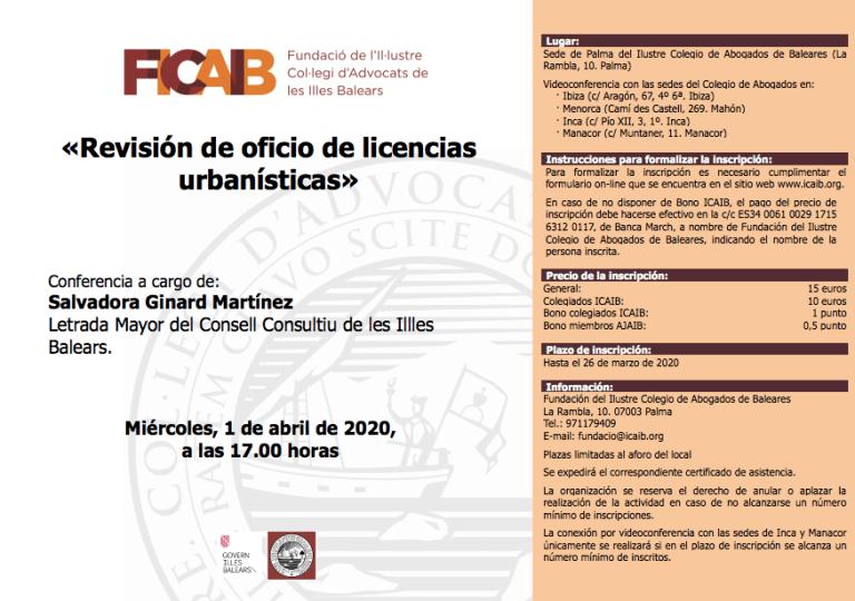 Revisión de oficio de licencias urbanísticas