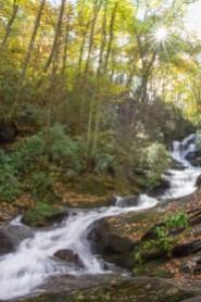 Roaring Fork Creek Falls, Pisgah National Forest, Blue Ridge Parkway, NC © Adel Alamo 2015