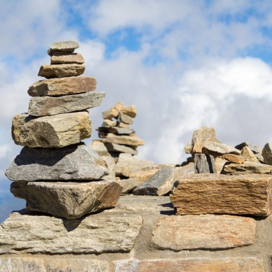 Stacked Stones, Mount Mitchell State Park, Pisgah National Forest, Blue Ridge Parkway, NC © Adel Alamo 2015