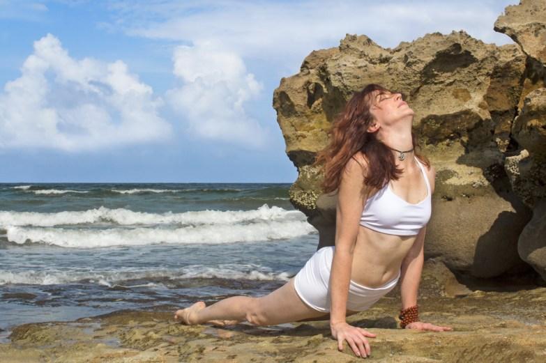 Joy Wolfe, Yoga, Prananda, Bhujangasana Cobra pose, Blowing Rocks, Jupiter, FL