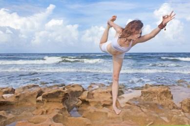 Joy Wolfe, Yoga, Prananda, Royal dancer pose, Blowing Rocks, Jupiter, FL