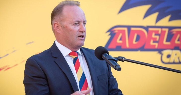 Adelaide Chairman Rob Chapman sharing the results