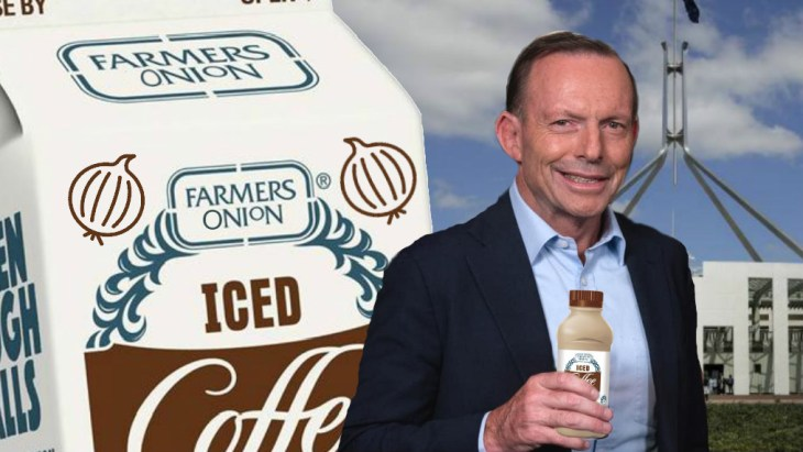 A nice, refreshing Farmers Onion Iced Coffee