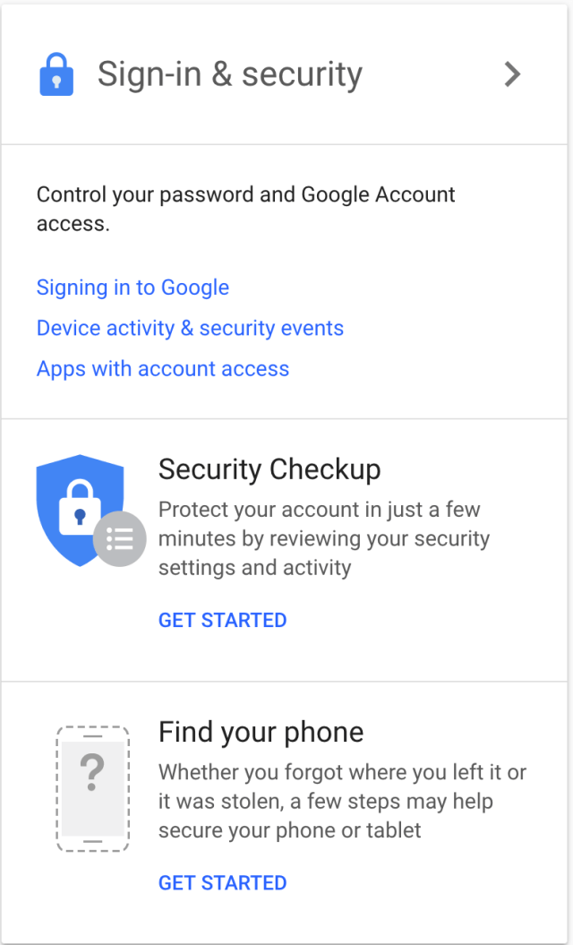 Gmail Device activity