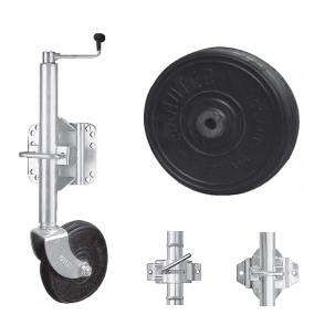 "Medium Jockey Wheel - 8"" Solid Rubber Wheel"