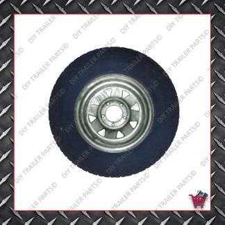 "16"" Landcruiser 5 Stud Trailer Rim & Tyre - 245R16A/T - Galvanised"