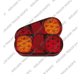 Led Trailer Light - 202 Series - Amber / Red (Black Body Kit)