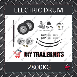 Tandem Axle Running Gear Kit - Electric Brake 2800kg (Parts Only)