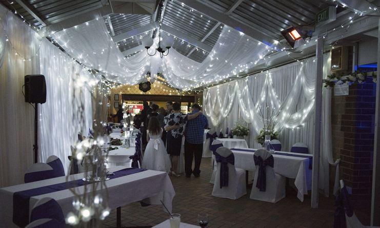 Inside the reception area