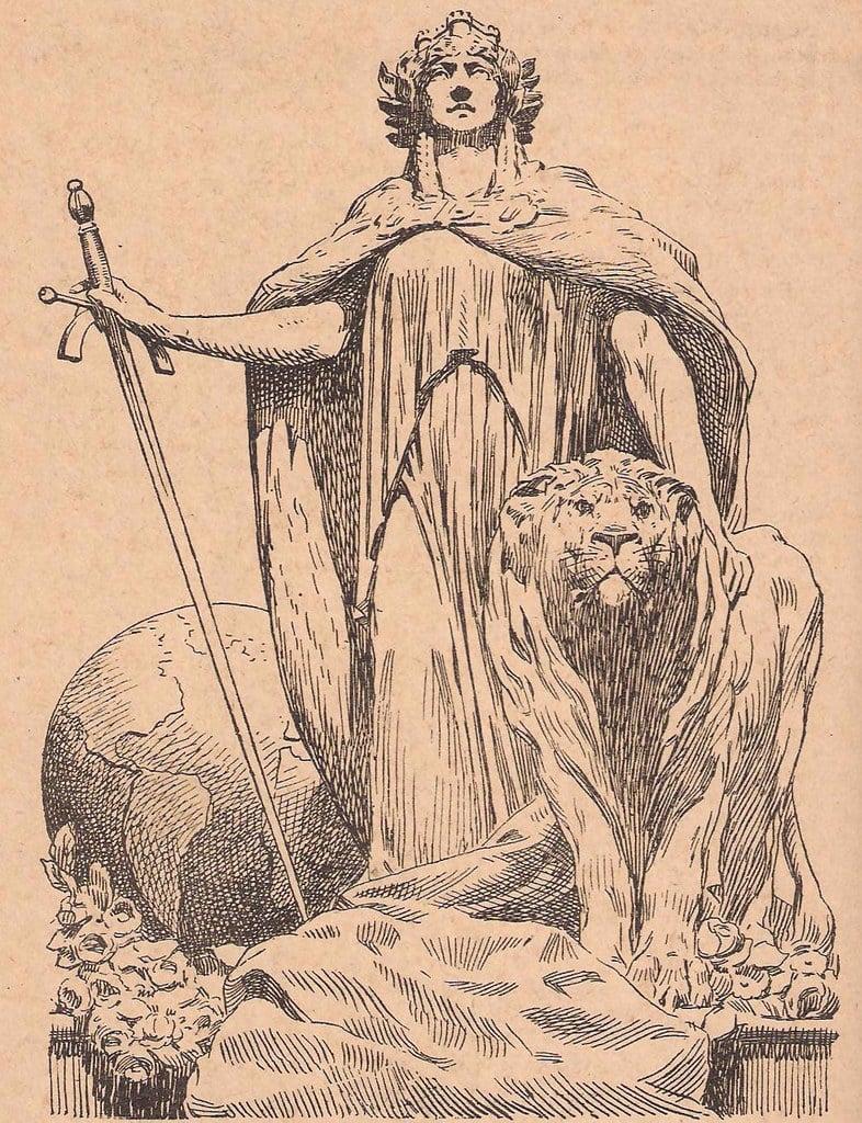 Representación: Hispania y el León Hispano