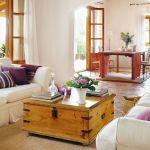 Living amenajat in stil rustic