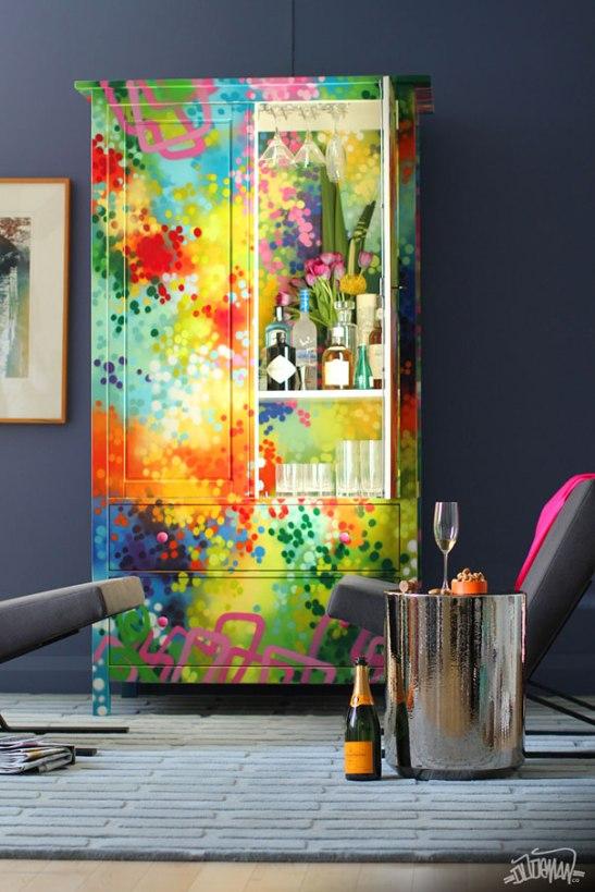 adelaparvu.com despre mobila cu graffiti design Dudeman