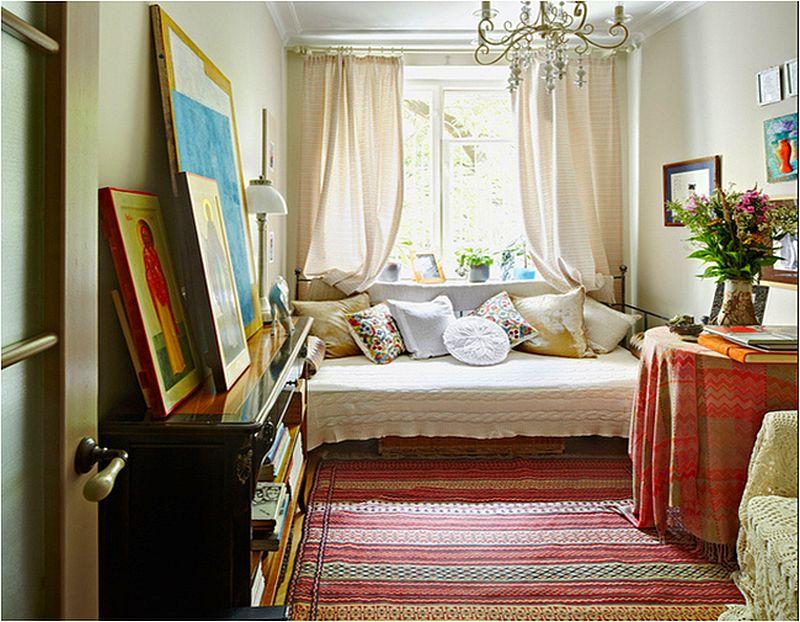 Poti masca lucrurile intr-o casa folosind textile.  Vezi fata de masa, cuvertura