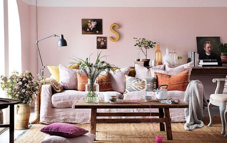 adelaparvu.com despre roz pastelat in living, pereti roz in living (7)