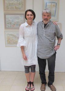 Alaturi de artistul Mihai Macri