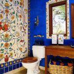adelaparvu.com despre bai cu placi ceramice pictate, bai in stil mediteranean, Foto Magpie Painting