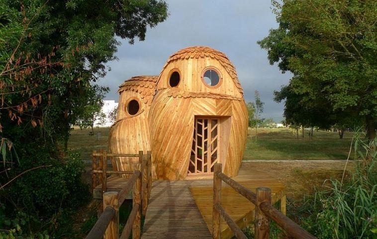adelaparvu.com despre cabana in forma de bufnita, design Zebra3, Foto Bruitdufrigo Refuges Guetteurs (11)
