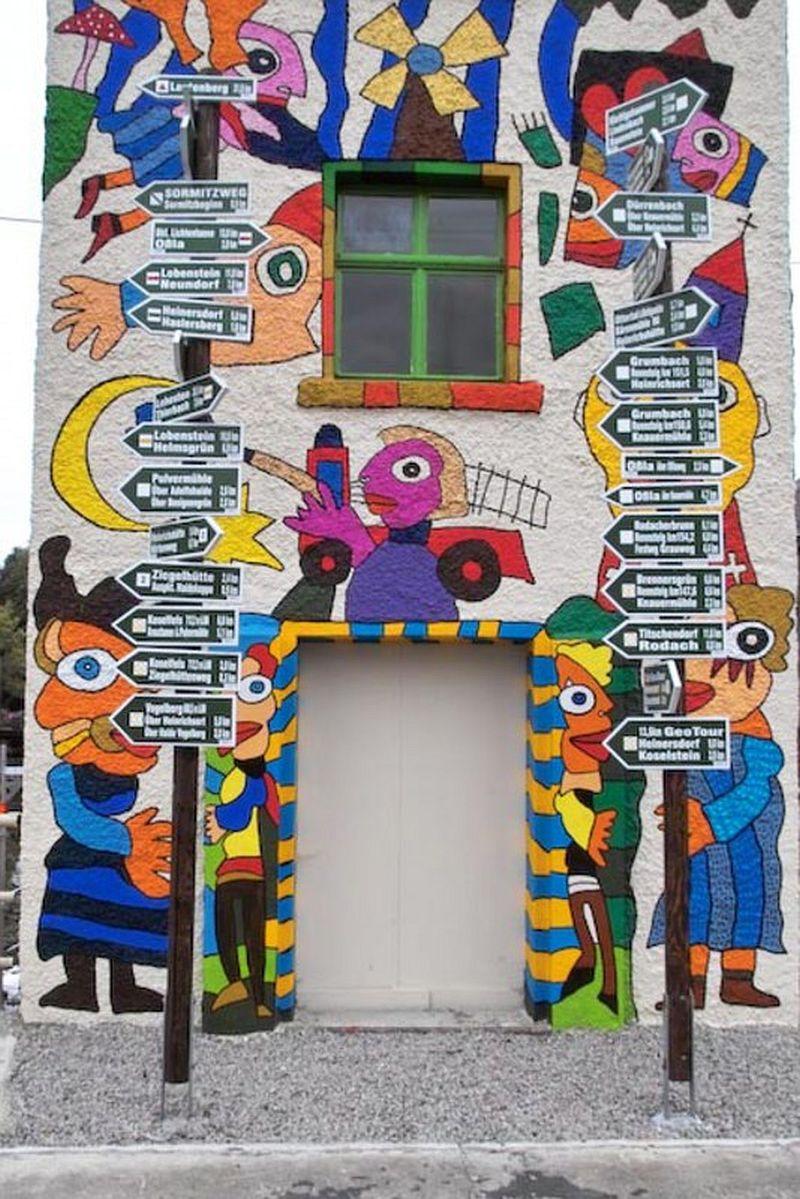 adelaparvu.com despre cladiri pictate, artist Michael Fischer Art (25)