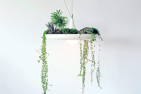 adelaparvu.com despre lampa suspendata cu plante, lampa Babylon, designer Ryan Taylor, Object Interface(1)