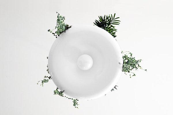adelaparvu.com despre lampa suspendata cu plante, lampa Babylon, designer Ryan Taylor, Object Interface(2)