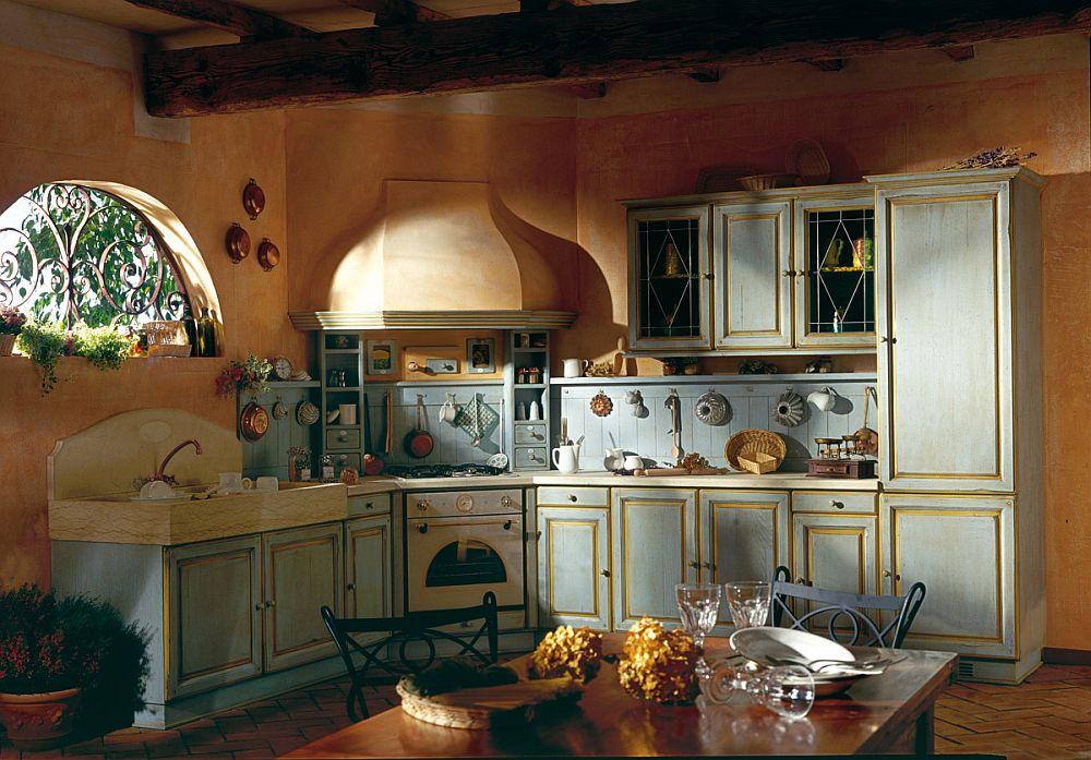 adelaparvu.com despre bucatarii rustice, bucatarii country style, model Granduca, Marchi Cucine (3)
